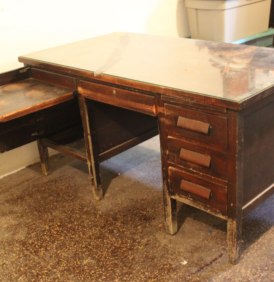 Vintage Teacher's Desk; 1x1 ... - Vintage Teacher's Desk : EBTH