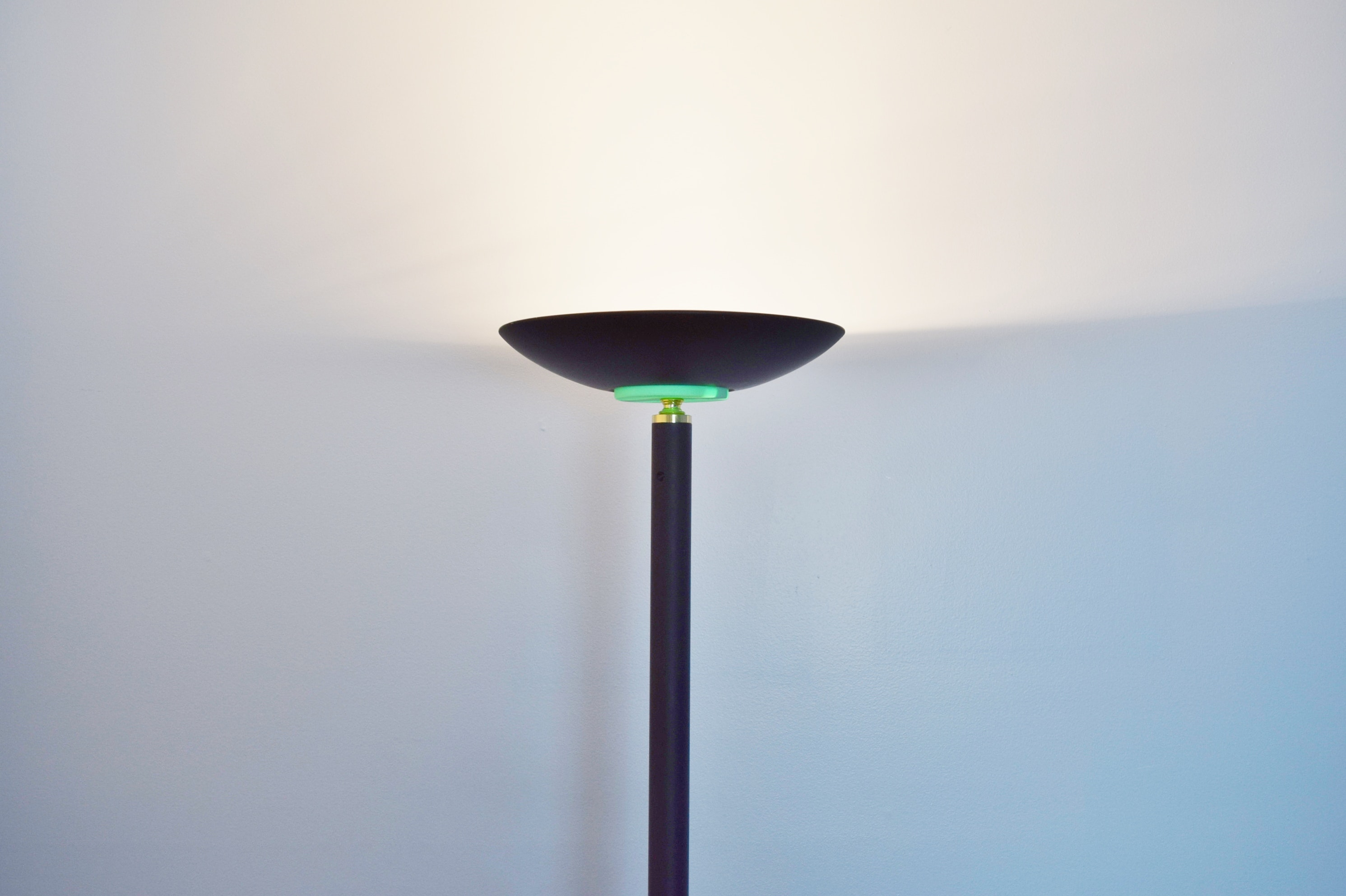 Black Halogen Torchiere Floor Lamp Ebth