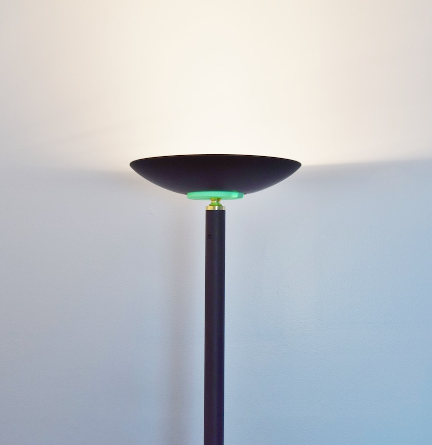 Black Halogen Torchiere Floor Lamp  EBTH - 300 watt floor lamp