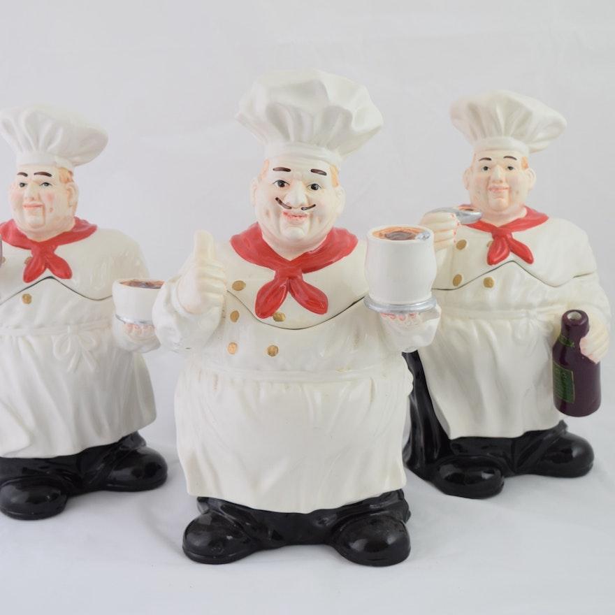 Fat Italian Chefs Canister Set Ebth