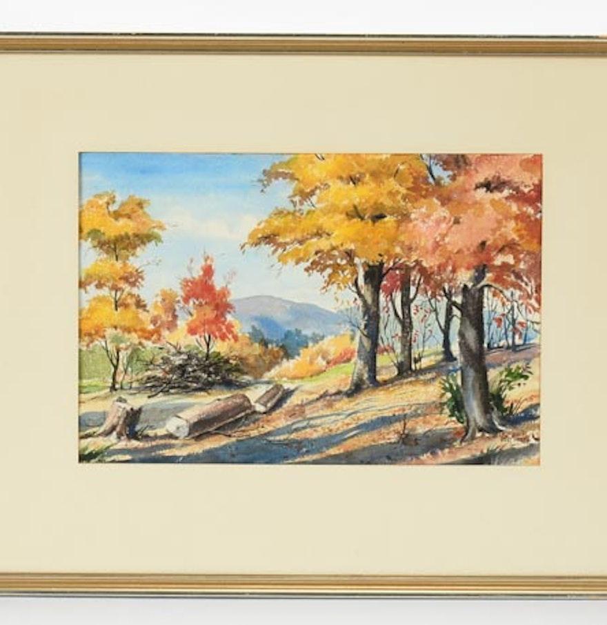 Original watercolor art for sale - Original Watercolor Signed Vester Wesley
