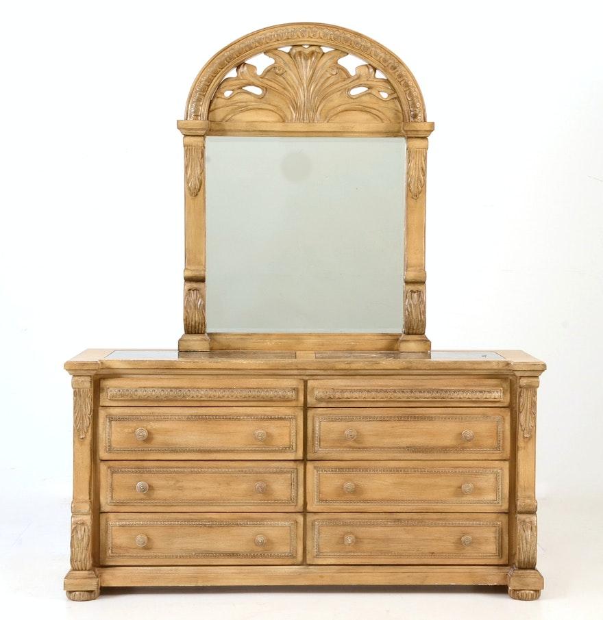 Collezione Europa Hollywood Style Dresser And Mirror EBTH - Collezione europa furniture designs