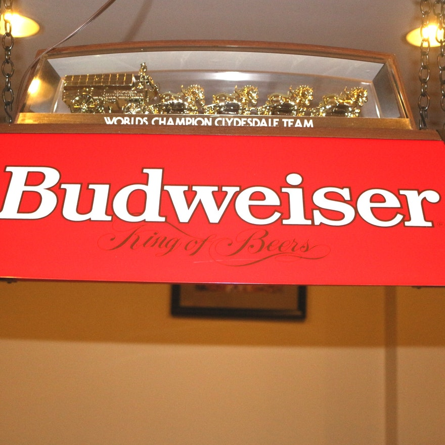 Budweiser Clydesdale Pool Table Light