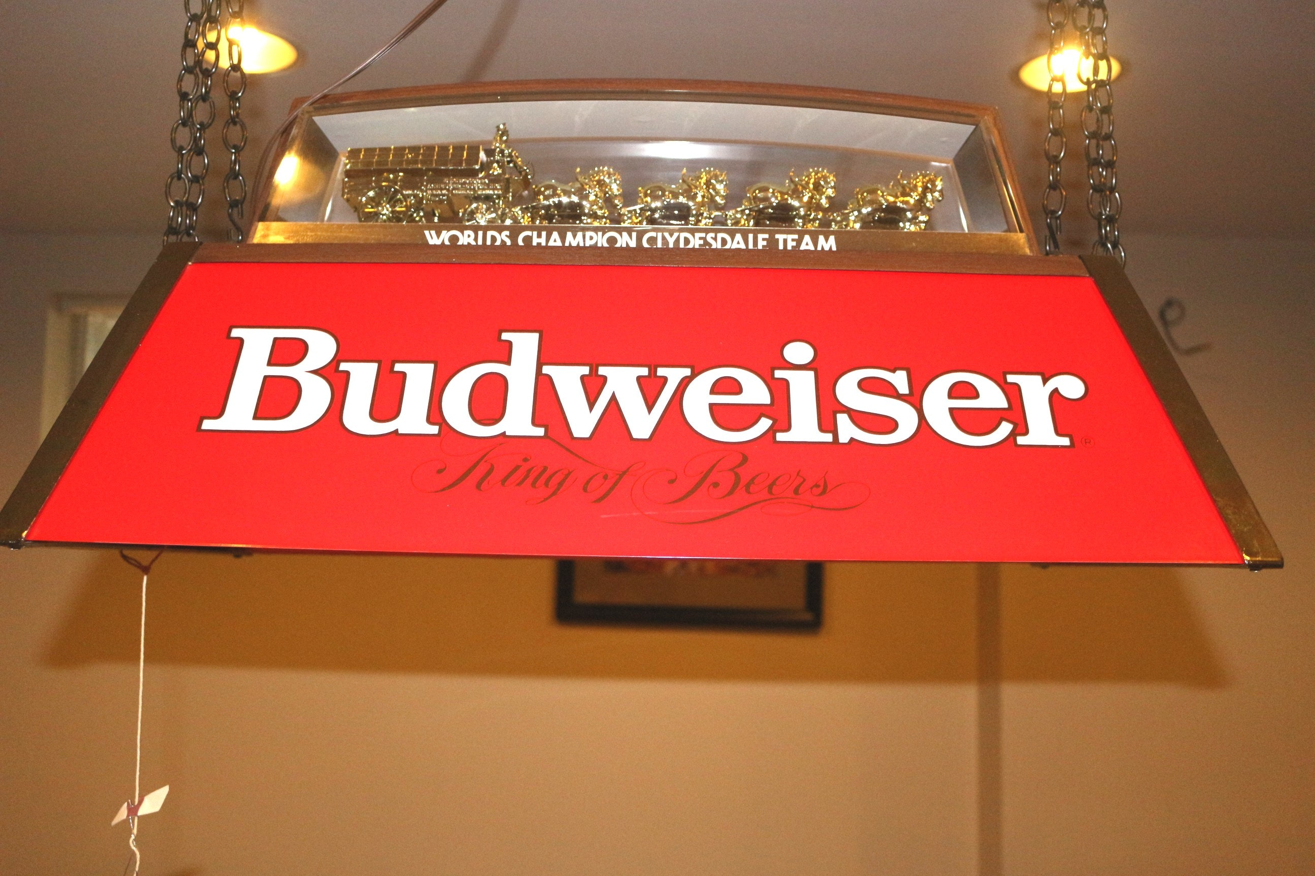 Budweiser Clydesdale Pool Table Light ...