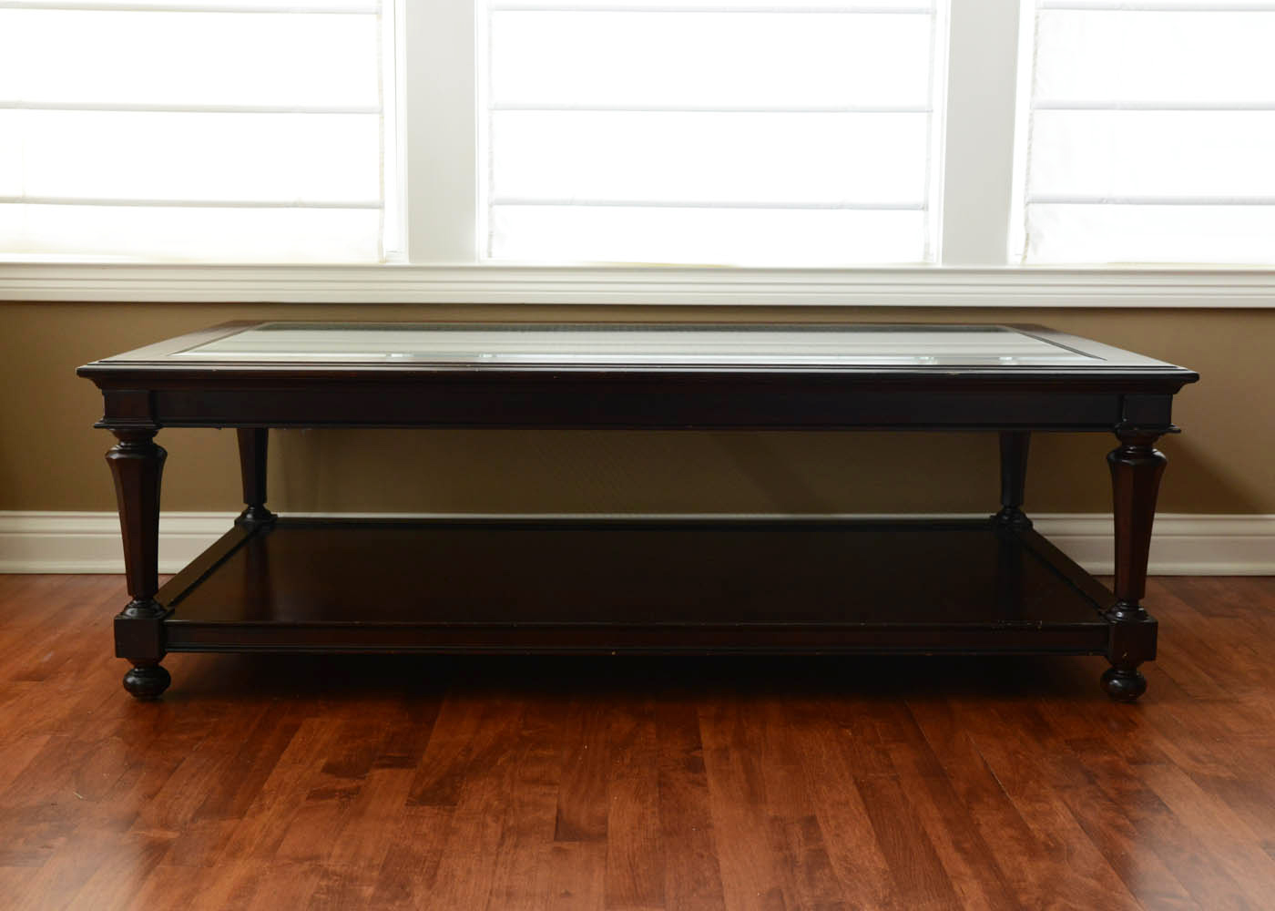Restoration hardware bristish cane occasional collection coffee table