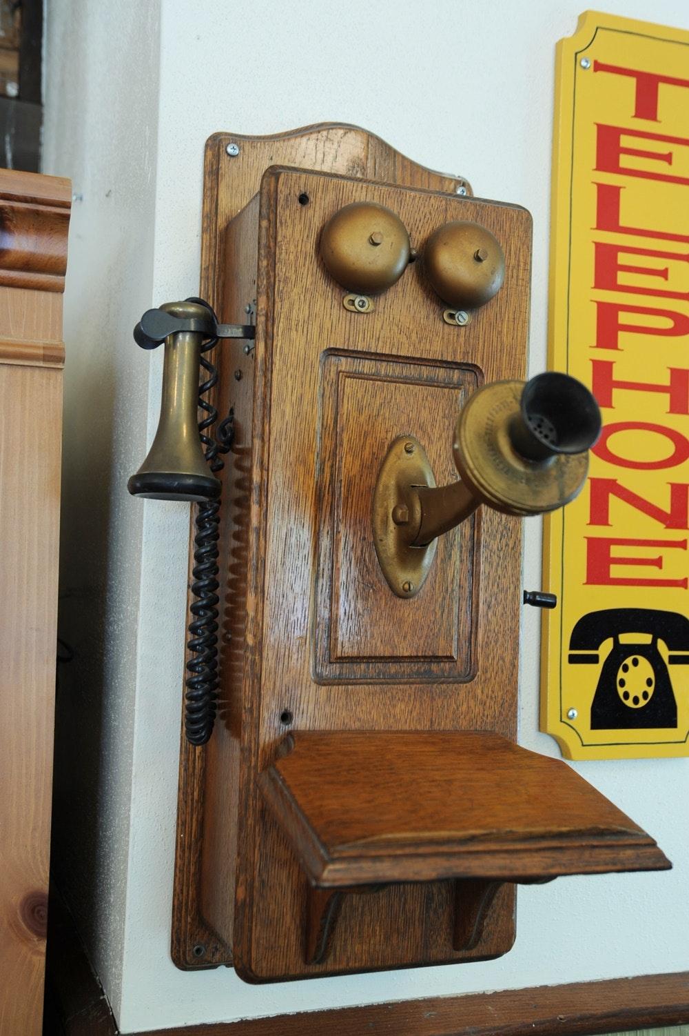 Early 1900s Western Telephone Wall Phone