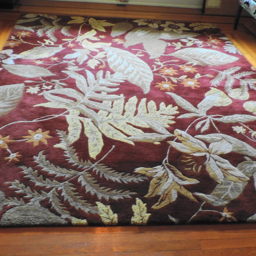 Crate Barrel Bryce Hand Tufted Area Rug
