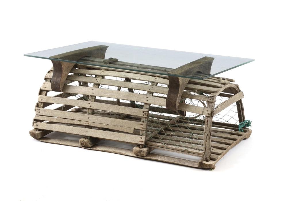 lobster trap coffee table : ebth