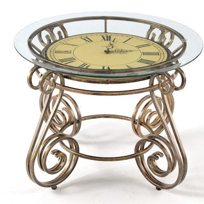 Coffee Table With Clock To Center