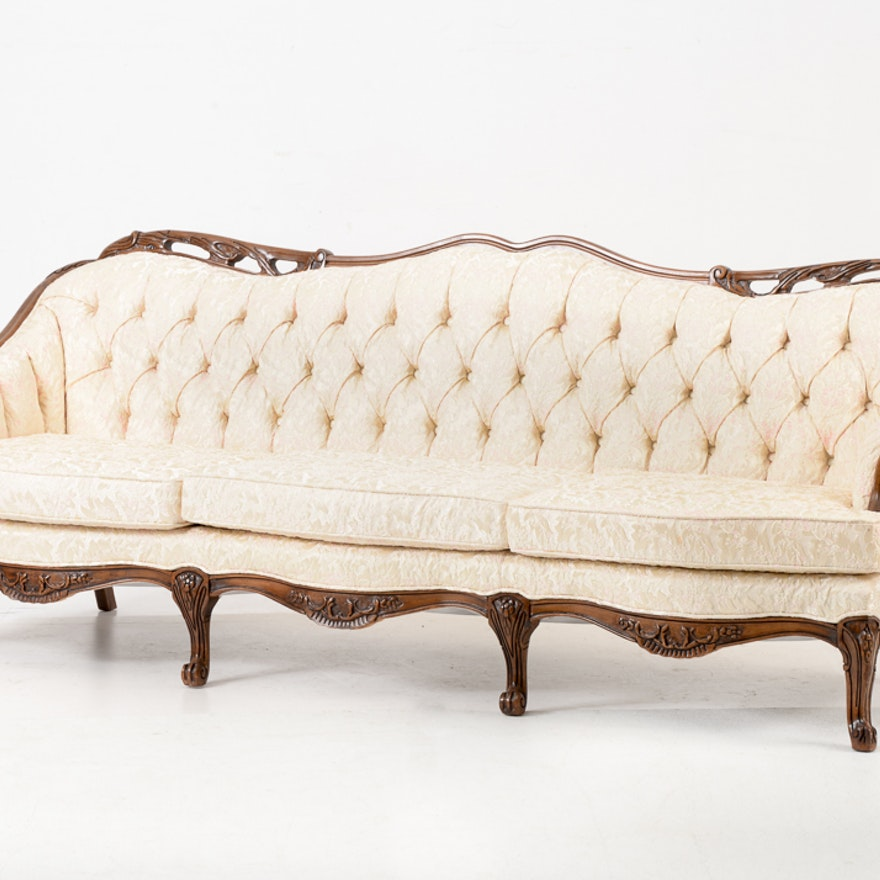 Vintage Button Tufted Sofa Ebth