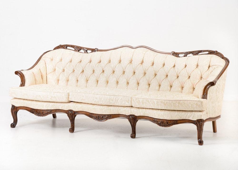 Vintage Button Tufted Sofa ...
