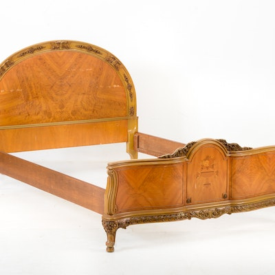 Italian Rococo-Style Bed Frame - Online Furniture Auctions Vintage Furniture Auction Antique