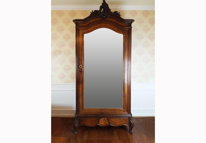 Vintage Chifferobe Armoire With Mirror Ebth