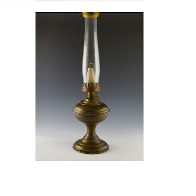 Antique floor lamps table lamps and light fixtures auction in vintage aladdin brass oil lamp model number six aloadofball Images