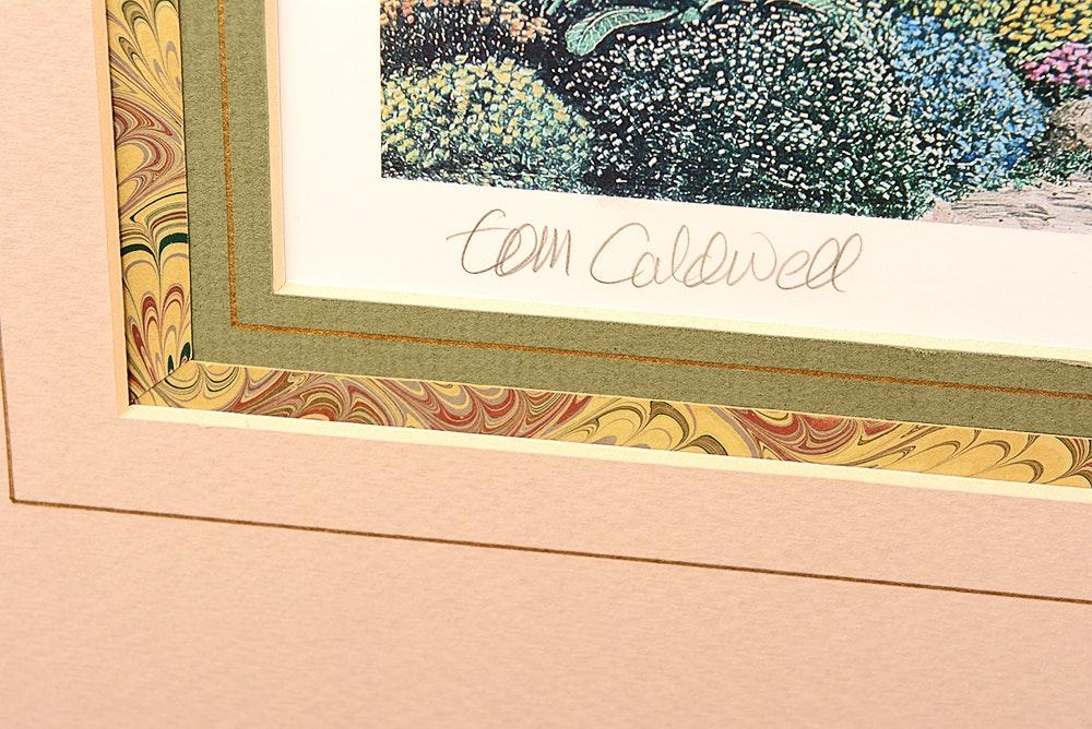 "Arlington Auto Sales >> Tom Caldwell Framed Lithograph ""Arlington Row"" | EBTH"