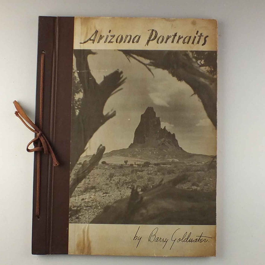 1940 First Edition Signed Barry Goldwater Arizona Portraits Book