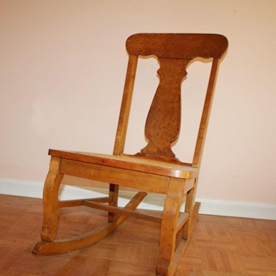 Incredible Fiddle Back Cane Seat Rocking Chair Inzonedesignstudio Interior Chair Design Inzonedesignstudiocom
