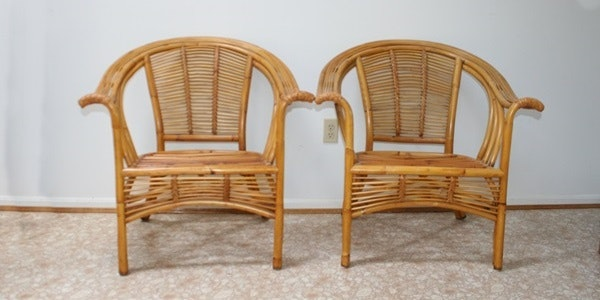 Awesome Pair Of Pier 1 Rattan Chairs ...