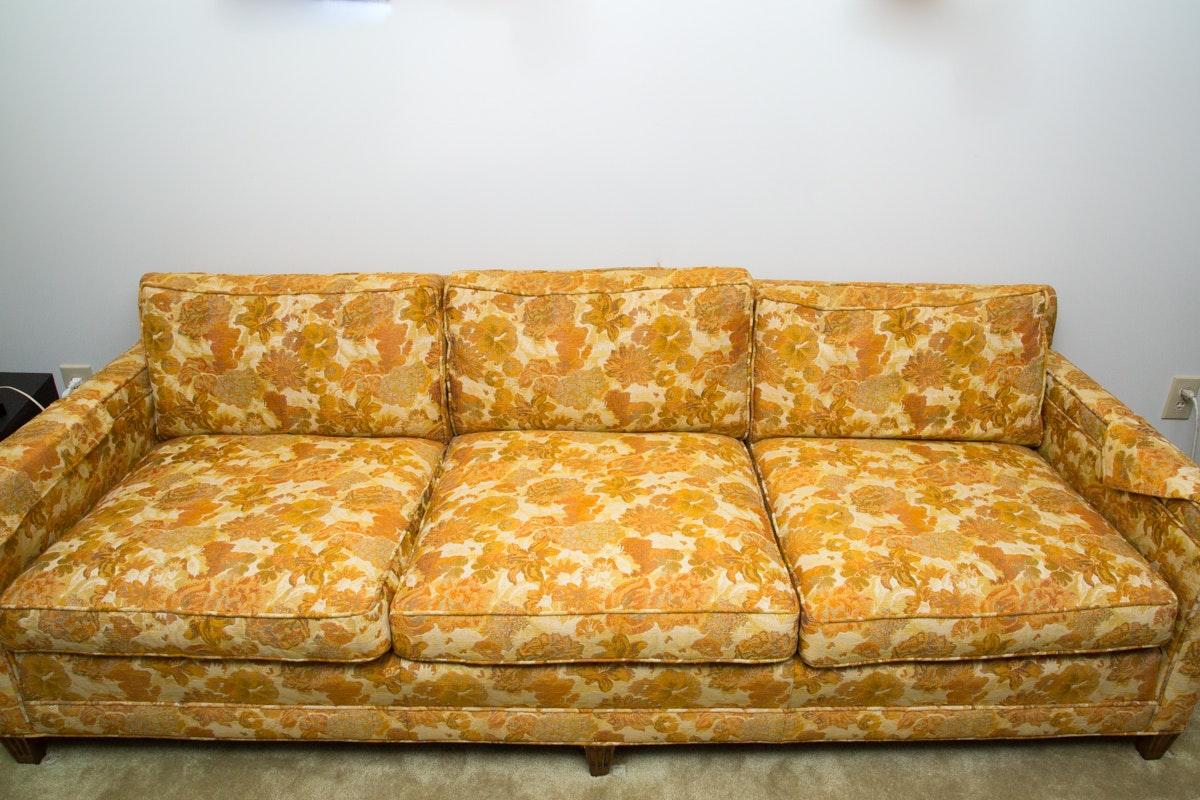 Vintage Mid Century Modern Floral Sofa ...