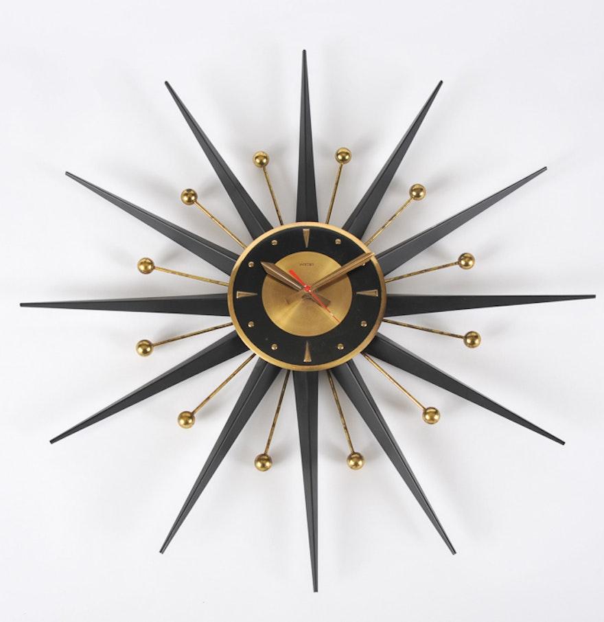 Welby Mid Century Modern Atomic Starburst Wall Clock Ebth