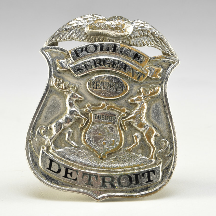Retired Detroit Police Sergeant Badge