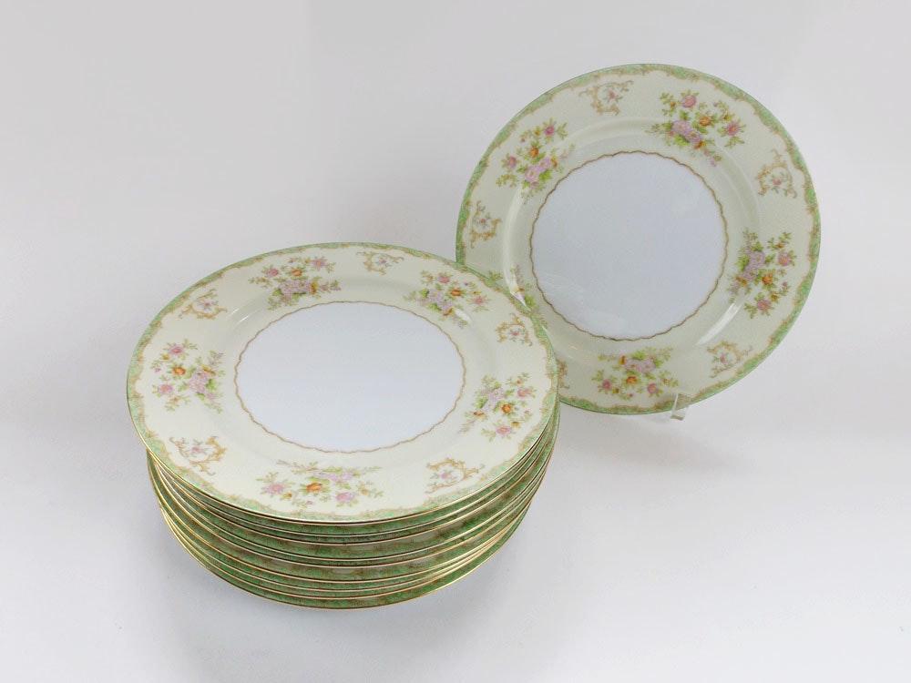 Set of Ten Vintage Hand-Painted Noritake Dinner Plate ... & Set of Ten Vintage Hand-Painted Noritake Dinner Plate : EBTH