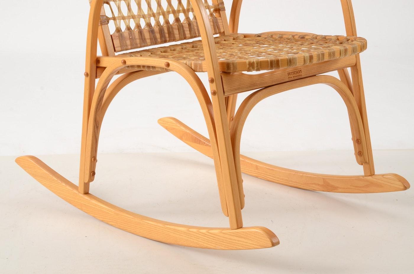 Snowshoe Rocking Chair Ebth