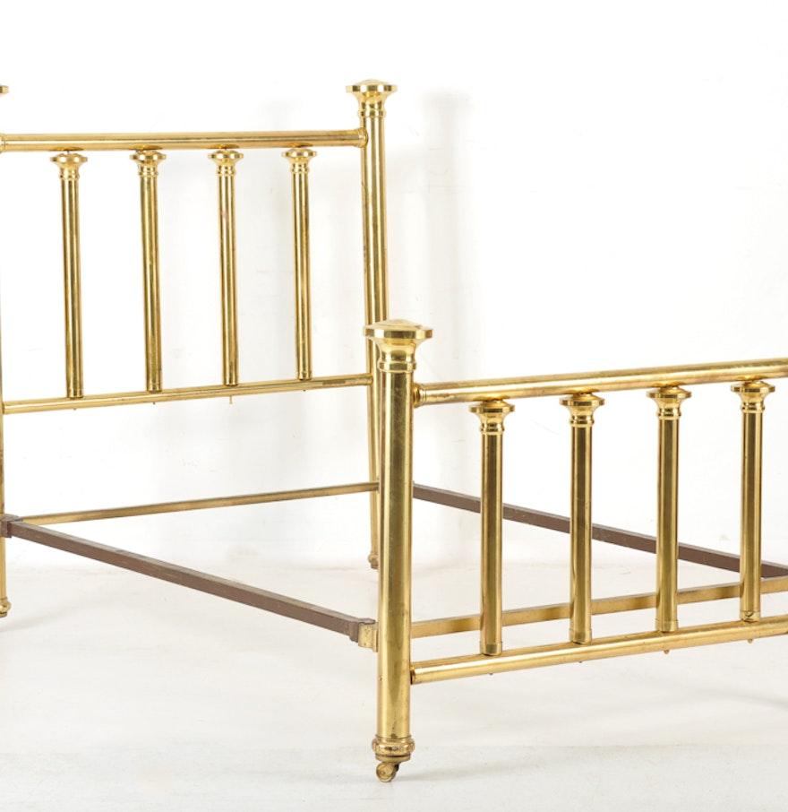 Vintage Brass Bed Frame ... - Vintage Brass Bed Frame : EBTH