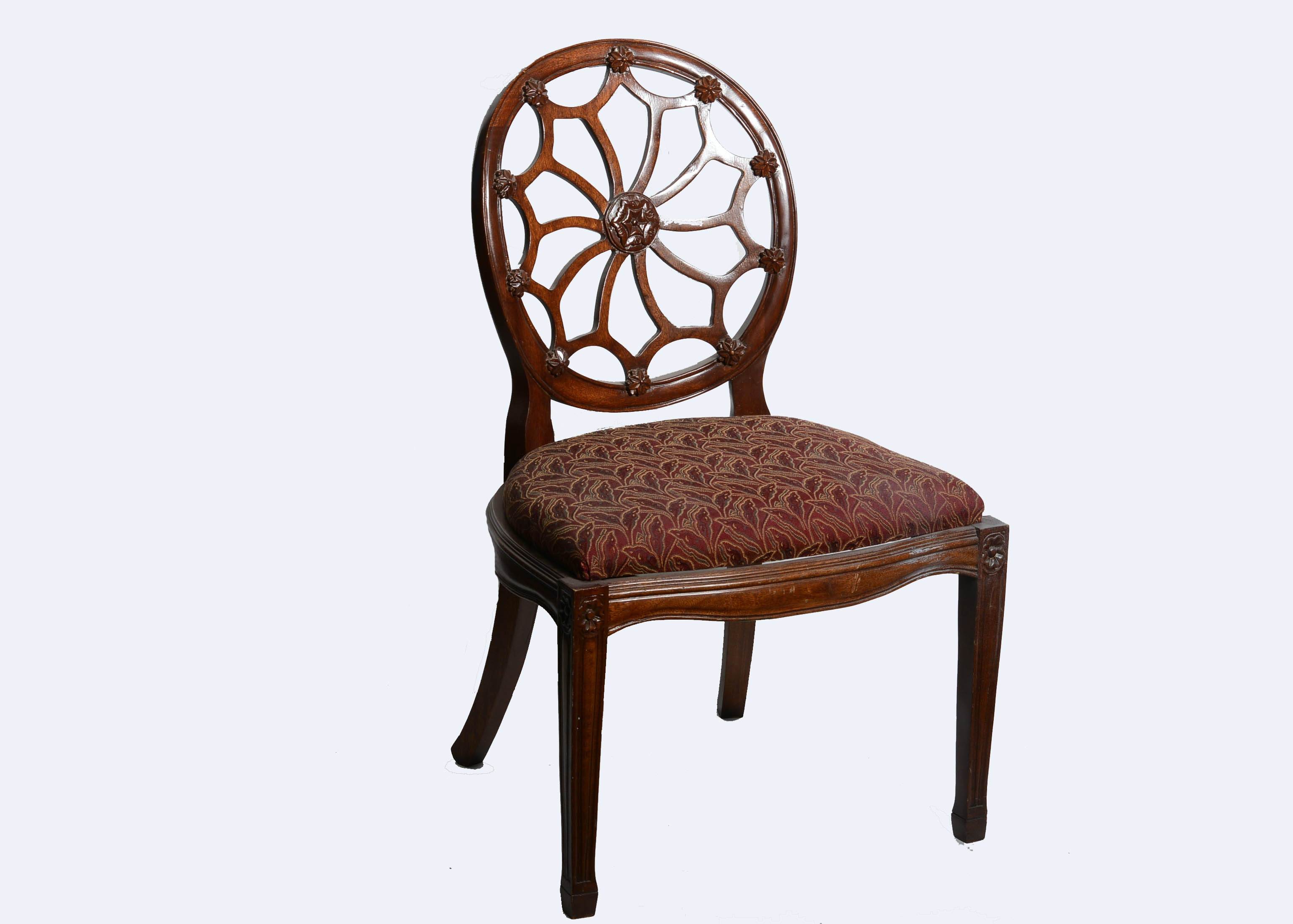 Nice Hepplewhite Style Spider Web Back Side Chair ...