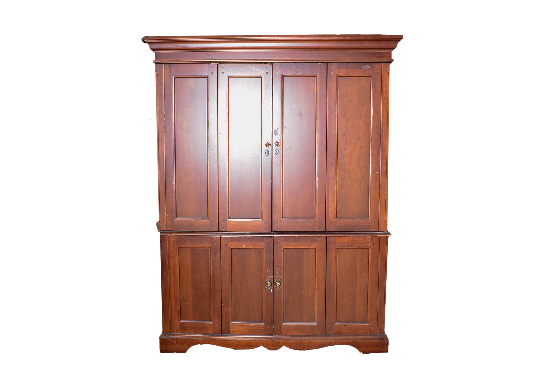 Hooker Furniture Four Door Home Office Computer Armoire : EBTH