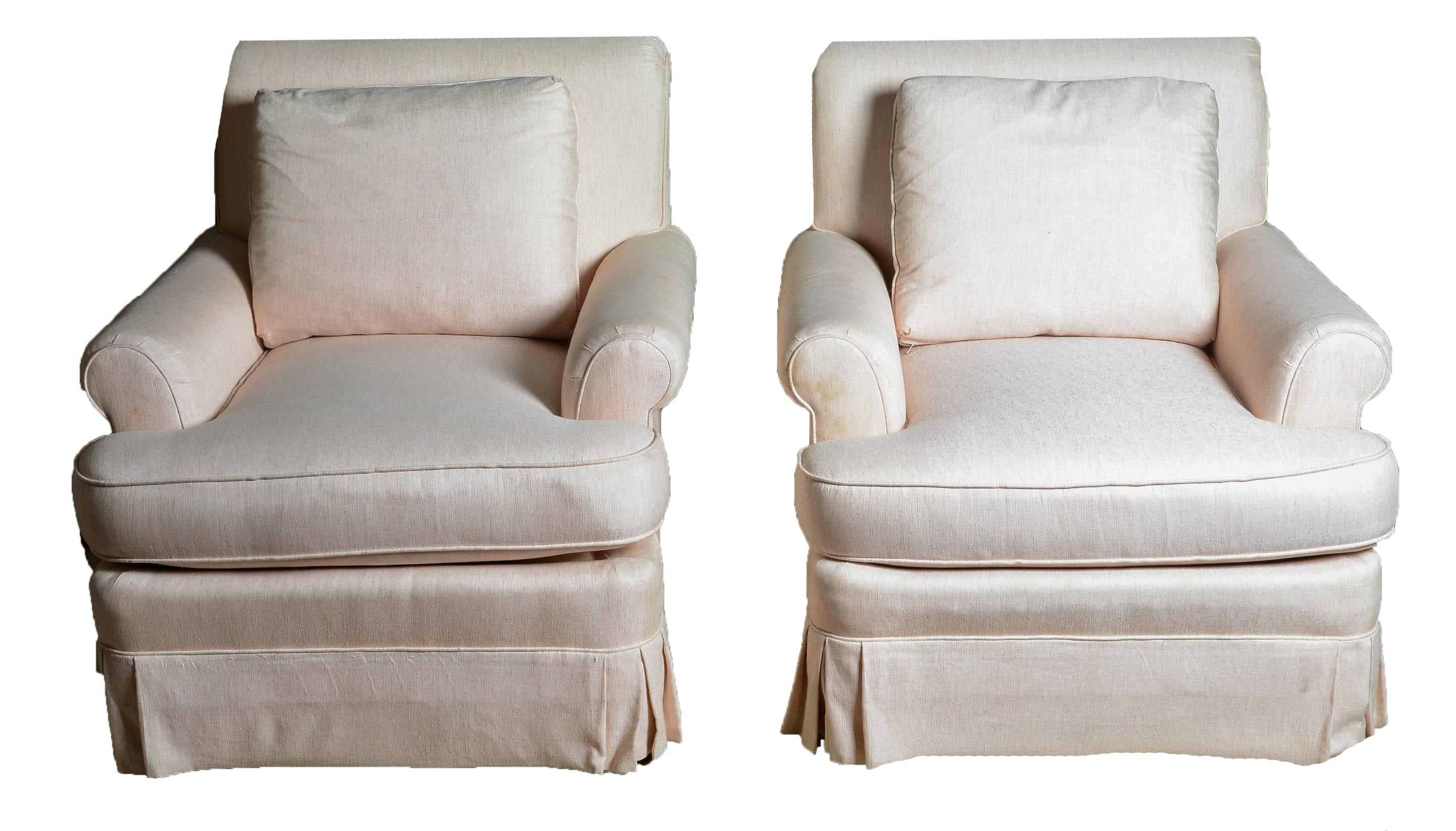 Gentil Pair Of Henredon Upholstered Club Chairs ...