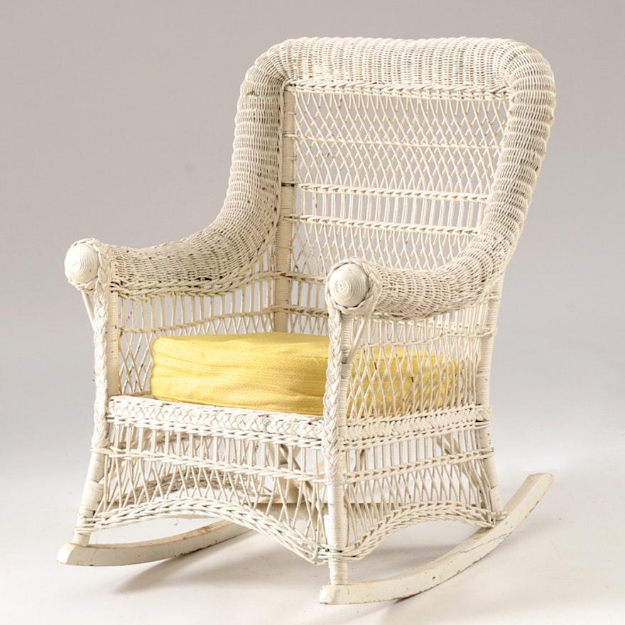 Antique Wicker Rocking Chair ... - Antique Wicker Rocking Chair : EBTH