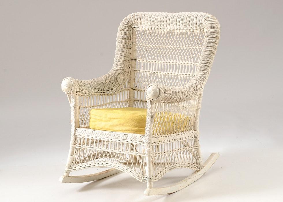 antique wicker rocking chair - Wicker Rocking Chair