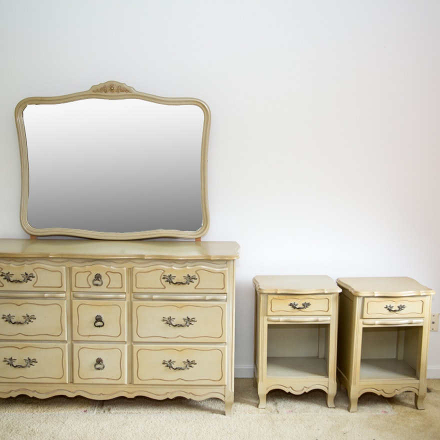 Vintage french provincial bedroom furniture set ebth for French provincial bedroom furniture