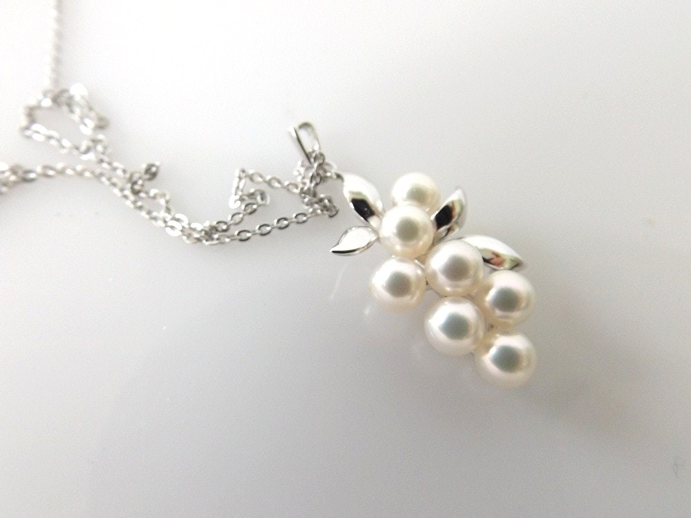 sterling silver and genuine pearl pendant necklace ebth