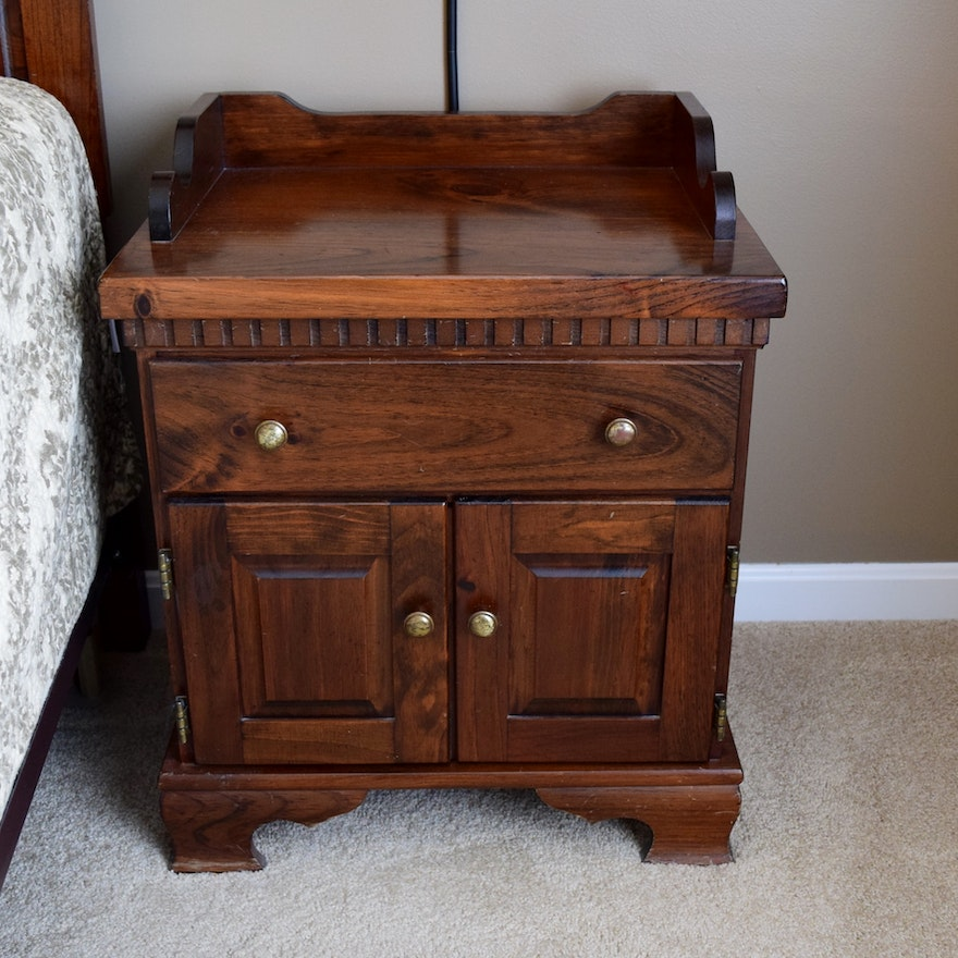 Yield House Pine Bedroom Nightstand Ebth