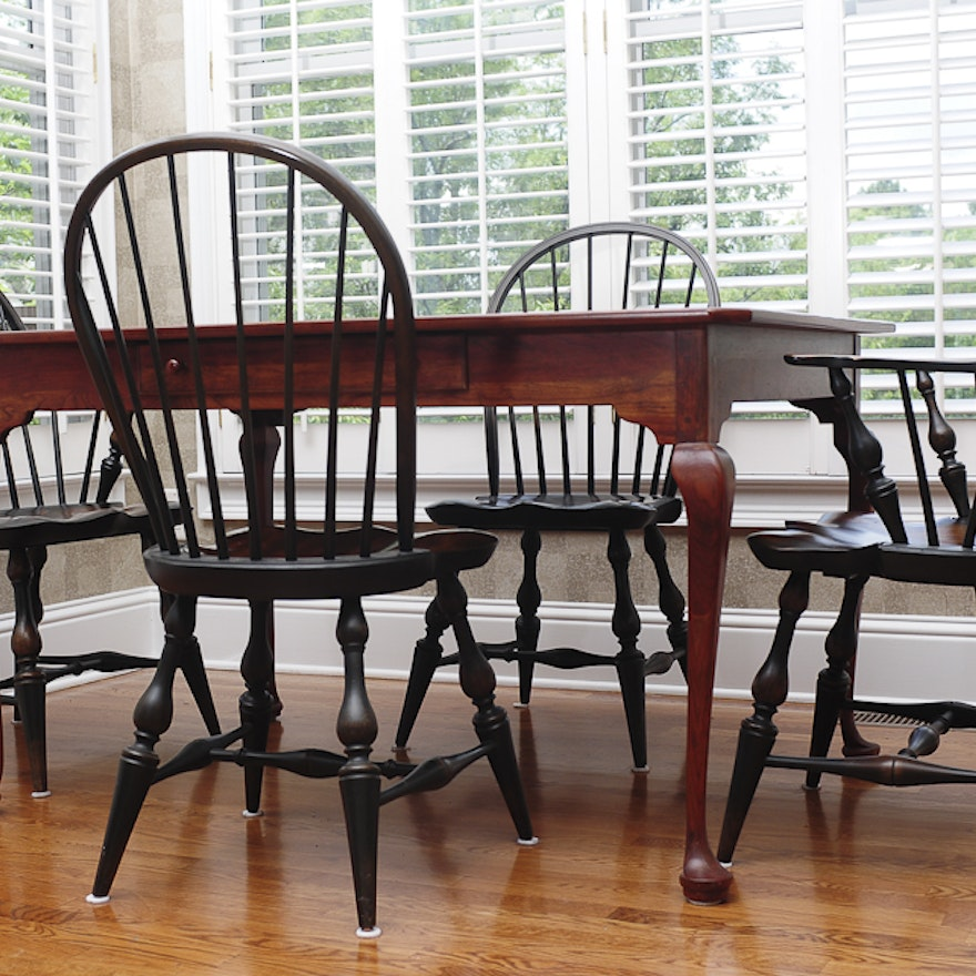 bob timberlake breakfast table and four windsor style
