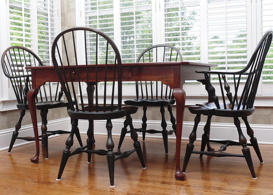 Delightful Bob Timberlake Breakfast Table And Four Windsor Style Chairs ... Part 16