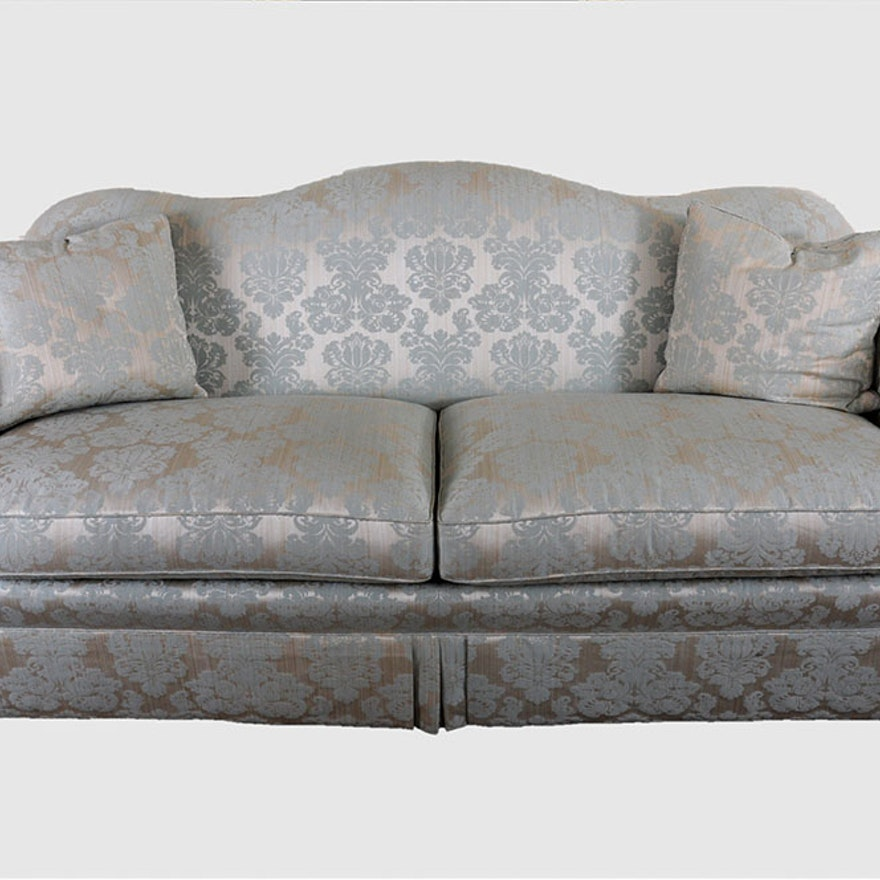 Camelback Silk Damask Sofa