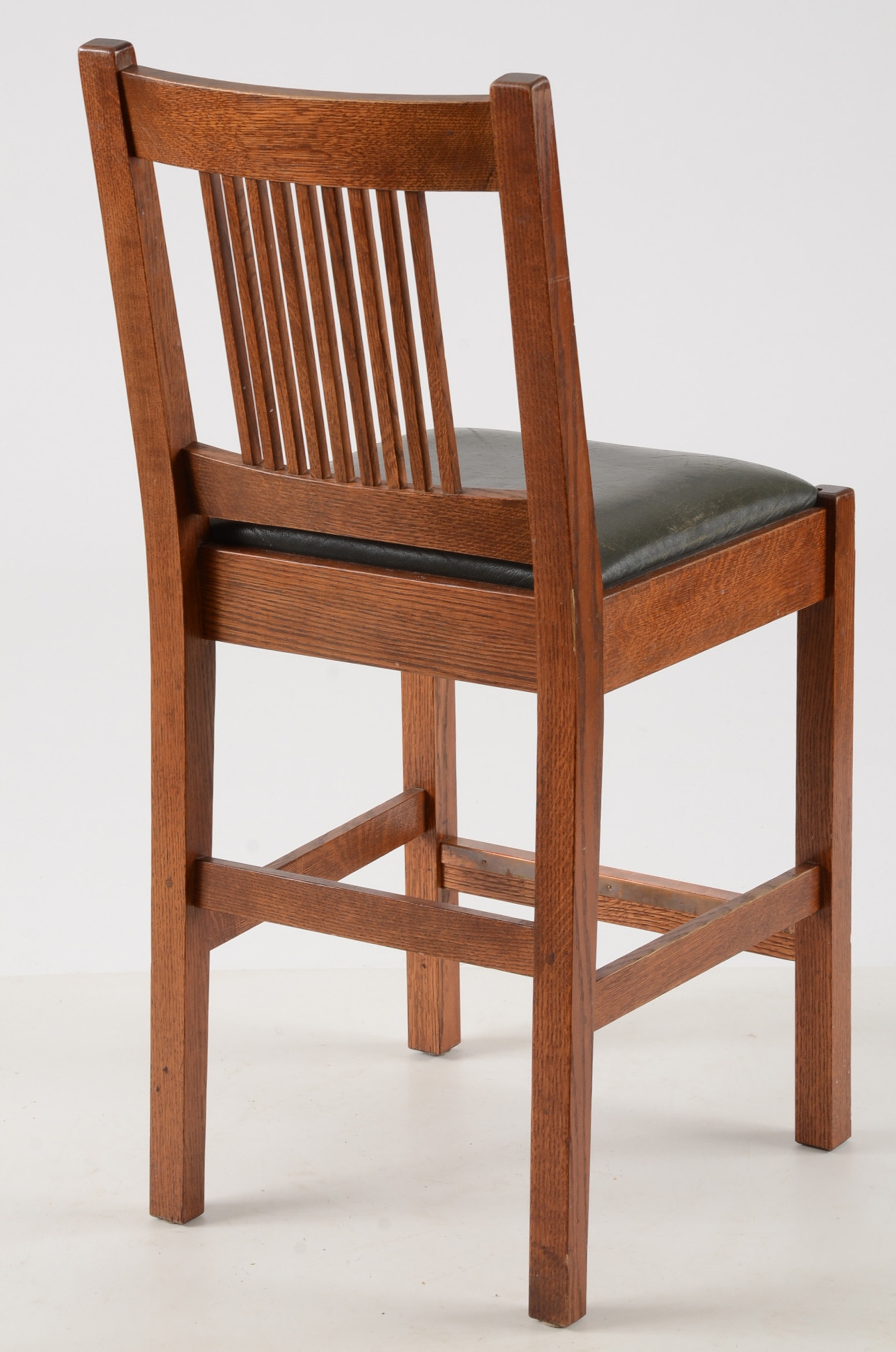 Contemporary Stickley Oak Bar Stools Ebth
