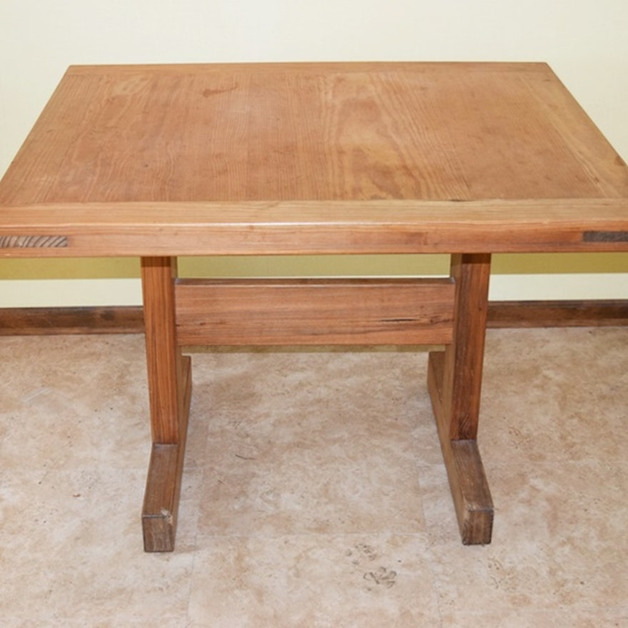Solid Pine Table By This End Up Furniture Ebth