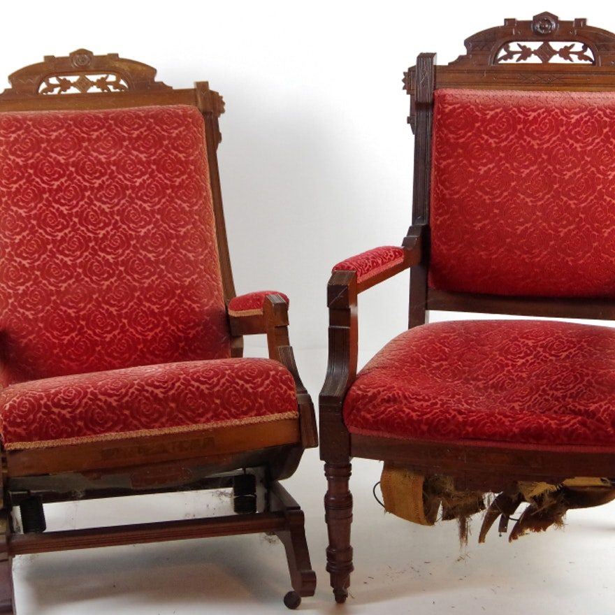 Pair of Antique Eastlake Chairs ... - Pair Of Antique Eastlake Chairs : EBTH