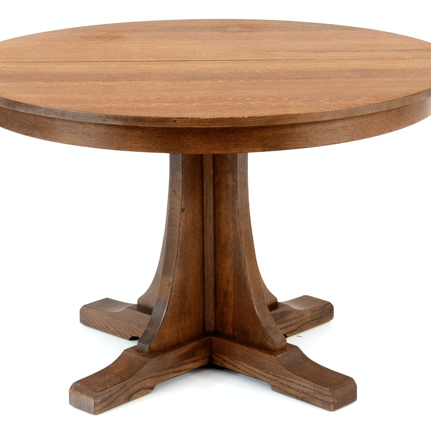 Contemporary stickley oak dining table ebth for Modern oak dining table