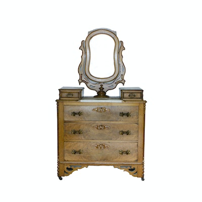 Antique Victorian Marble Top Dresser - Online Furniture Auctions Vintage Furniture Auction Antique