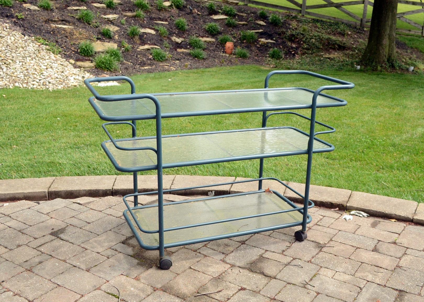 Vintage Brown Jordan Outdoor Serving Cart ... Part 75