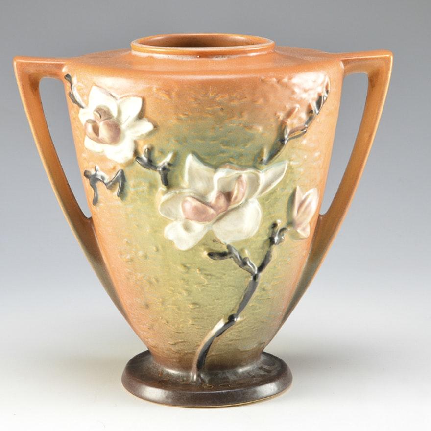 Vintage Rosewood Vase In Magnolia Ebth