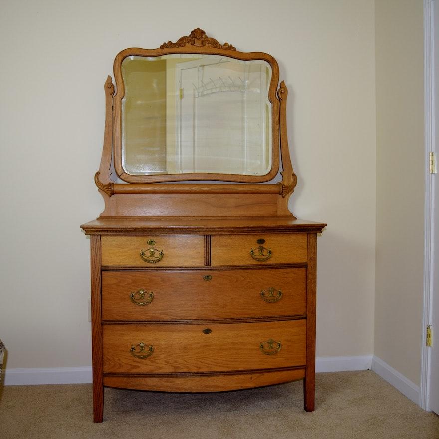 Antique Oak Dresser With Mirror Bestdressers 2019