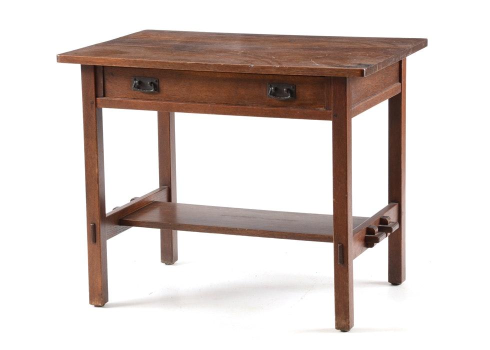 Mission Furniture In Transitional Design: Antique Stickley Mission Style Desk : EBTH