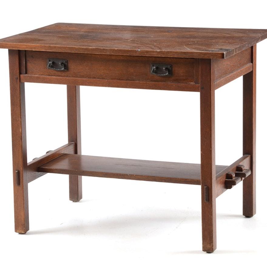 Antique Stickley Mission Style Desk ... - Antique Stickley Mission Style Desk : EBTH