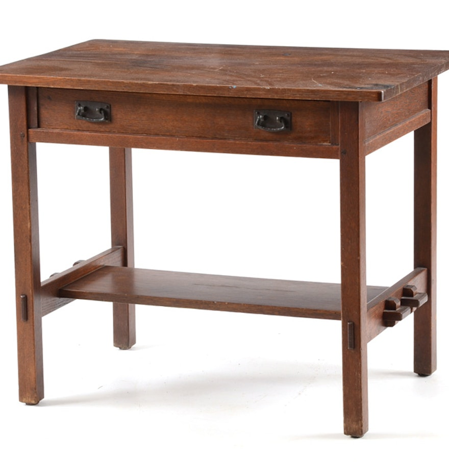 Antique Stickley Mission Style Desk Ebth